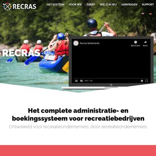 Recras – Online reserveringssysteem voor de recreatiebranche