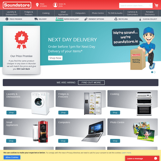 ArchiveBay.com - soundstore.ie - Soundstore - Buy TV's, Laptops, iPads, Washing Machines, Dryers, Cookers, Fridges, Dishwashers