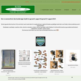3d ark, scrapbooking, lav selv kort, online fysisk butik, sjælland