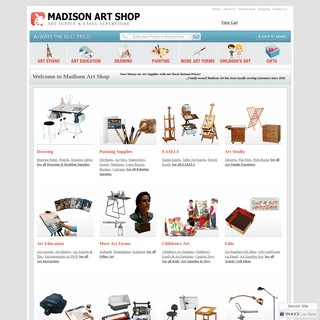 ArchiveBay.com - madisonartshop.com - Art Supplies- Easels, Art Projectors, Art Desks and More - Madison Art Shop