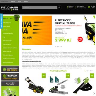 ArchiveBay.com - fieldmann-cz.cz - Fieldmann - Zahradní technika, nářadí pro dům i zahradu