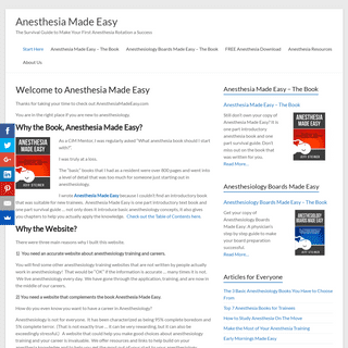 Welcome to Anesthesia Made Easy – Anesthesia Made Easy