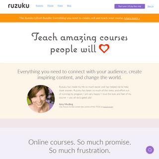ArchiveBay.com - ruzuku.com - Ruzuku - Teach Amazing Courses People will Love