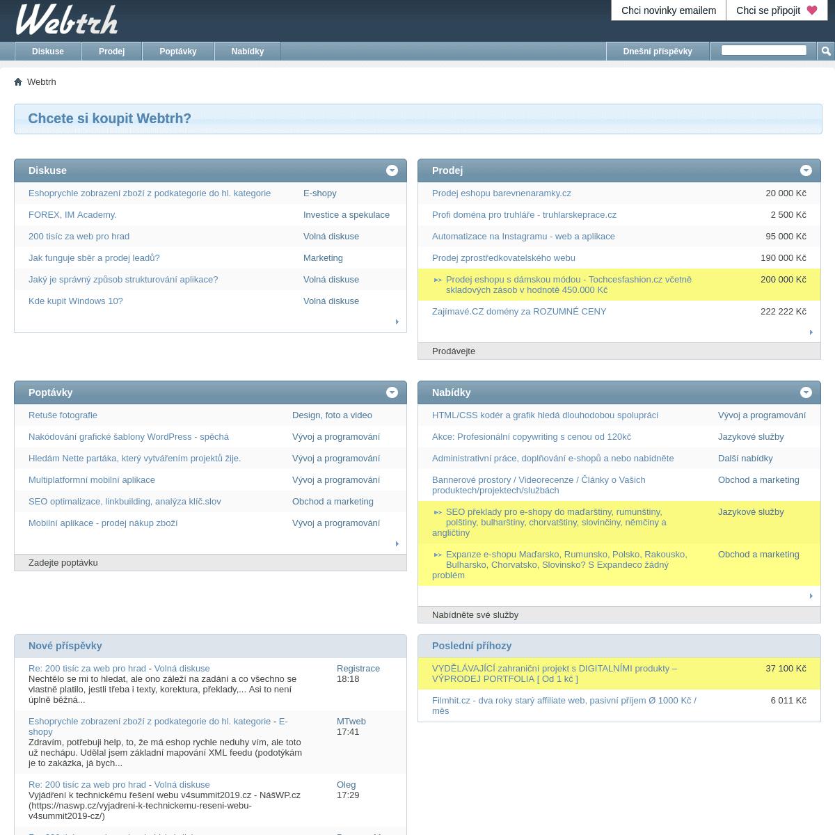 Webtrh. Můj byznys roste