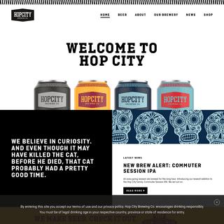 Hop City Brewing Co. - Premium Craft Beer - Ontario, Canada
