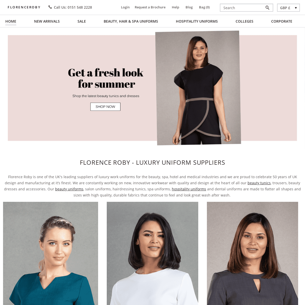 Florence Roby - Beauty Uniforms - Salon Wear Suppliers