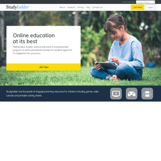ArchiveBay.com - studyladder.co.nz - Studyladder, an online learning resource for primary and elementary students and their teachers. Lessons, activities, games, wor