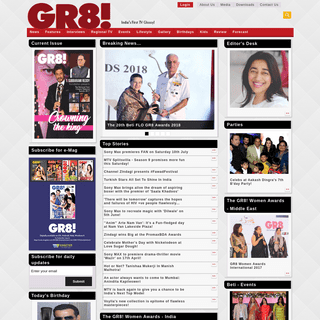 GR8! TV Magazine - Great World of Indian Television