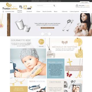 ArchiveBay.com - premiercadeau.com - Cadeau de baptême et naissance, gourmette bébé, medaille et chaine - PremierCadeau