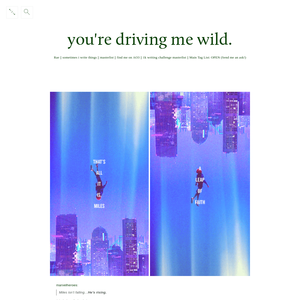 you're driving me wild.