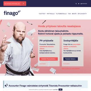Sähköisen taloushallinnon ohjelmistot yrityksille ja tilitoimistoille - Finago
