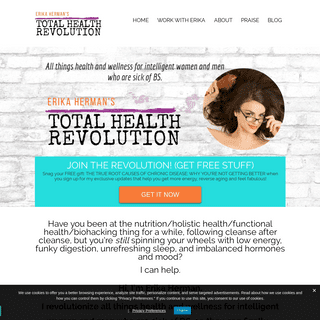 Erika Herman - TOTAL HEALTH REVOLUTION — Erika Herman - TOTAL HEALTH REVOLUTION