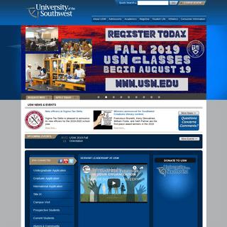 Welcome - University of Southwest