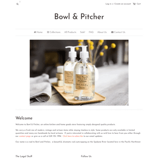 ArchiveBay.com - bowlandpitcher.com - Thoughtful and Timeless -- Simply Curated Kitchen and Home Goods