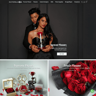 Outerbloom Florist Jakarta. Toko Bunga Online, Toko Kue Parcel Lebaran