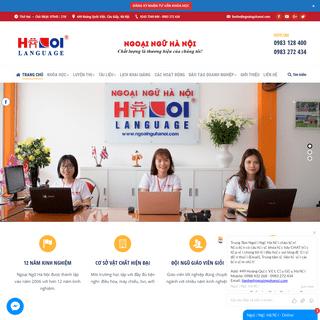 Học tiếng Nhật Bản, Hàn Quốc, tiếng Anh, Trung tại Hà Nội