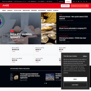 AtoZ Markets- Forex, Bitcoin, Blockchain, Cryptocurrency News