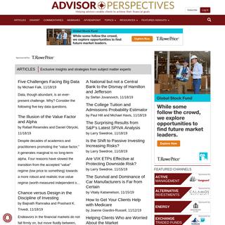 Advisor Perspectives