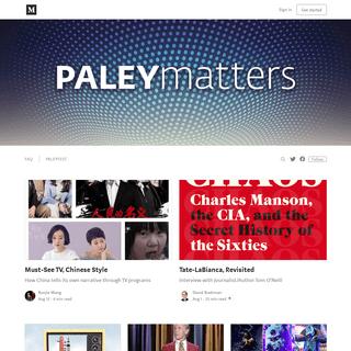 Paley Matters