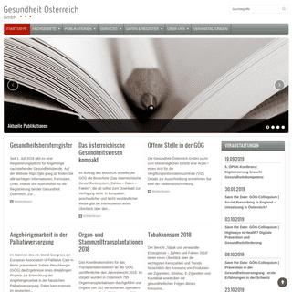 ArchiveBay.com - goeg.at - Startseite - Gesundheit Österreich GmbH
