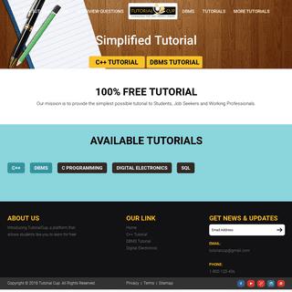 C++ Tutorial, Java Tutorial, DBMS, JavaScript Tutorial