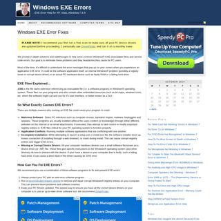 Windows EXE Errors — EXE Error Help for XP, Vista & Windows 7