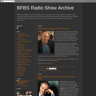 BFBS Radio Show Archive