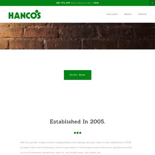Hanco's - A Taste of Vietnamese Cuisine in Brooklyn, NY