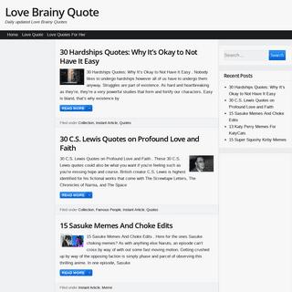 ArchiveBay.com - lovebrainyquote.com - Love Brainy Quote