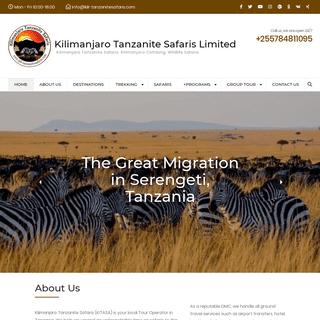 Home - Kilimanjaro Tanzanite Safaris Limited