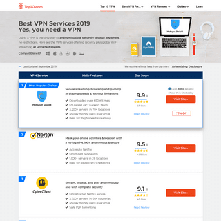 The Best VPN Services of 2019 - Compare Top VPN Providers