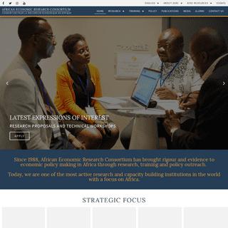 Home - AERC - African Economic Research Consortium