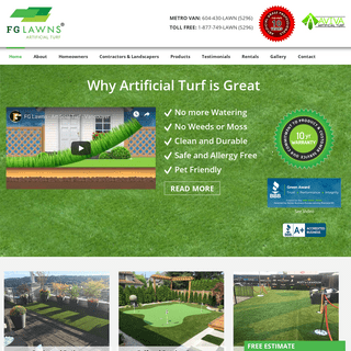 ArchiveBay.com - fg-lawns.com - FG Lawns Artificial Turf - Canadian Wholesaler & Retail Artificial Grass Synthetic Turf FG Artificial Lawns Vancouver