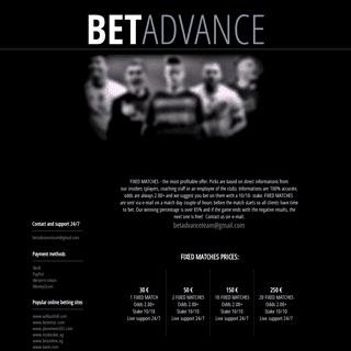 ArchiveBay.com - betadvance.com - BETADVANCE - Free tips - Premium tips - Fixed football matches