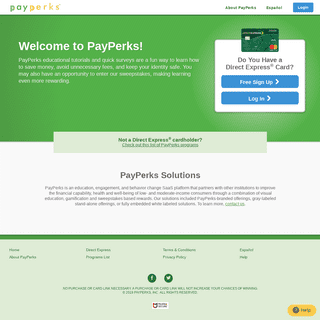 ArchiveBay.com - payperks.com - Home - Learn about your card • Earn points worth chances • Win cash prizes • PayPerks