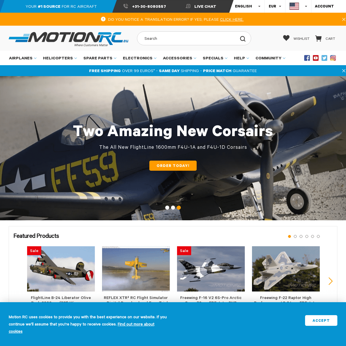 RC Airplanes, Helicopters, Electronics, Accessories - Motion RC Europe