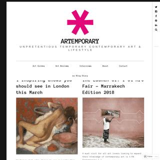 artemporary – Unpretentious Temporary Contemporary Art & Lifestyle