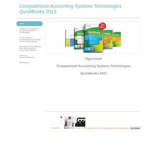 Computerized Accounting Systems Technologies QuickBooks 2013 - Home