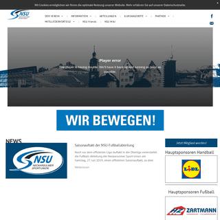 ArchiveBay.com - nsu-sport.de - Neckarsulmer Sport-Union e.V.