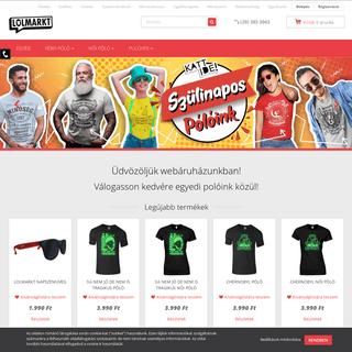 LOLmarkt.hu - Vicces póló webshop