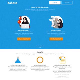 Bahaso - Belajar Bahasa Inggris Online Gratis