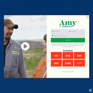 Amy Klobuchar for President- Let's Get to Work!