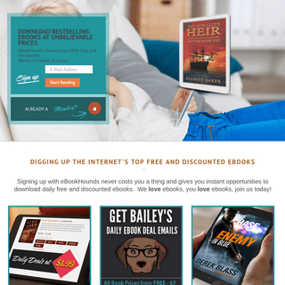 Instantly Download Free eBooks & Discounted eBooks Online, Daily Free eBooks - eBookHounds