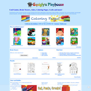 Squigly's Playhouse - Free Online Games, Brain Teasers and More