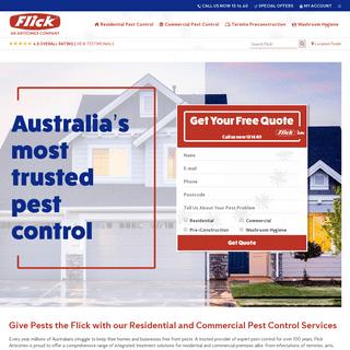 Flick Pest Control – Australia's Most Trusted Pest Control Solutions - Flick Pest Control