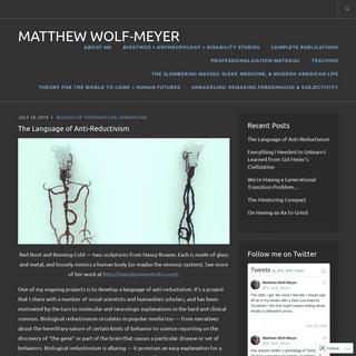 Matthew Wolf-Meyer