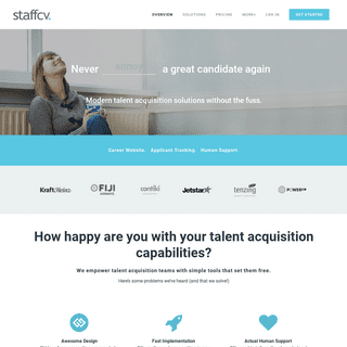 StaffCV - Easy to use ATS and Custom Career Websites