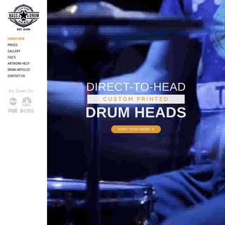 Custom Bass Drum Head Printing - CustomBassDrumHead.com