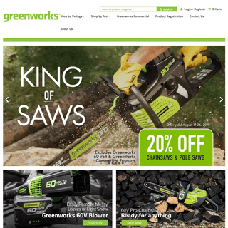 Power Tools for Home & Garden - Greenworks
