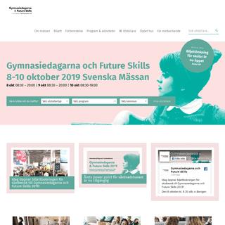 ArchiveBay.com - gymnasiedagarna.se - Gymnasiedagarna och Future Skills – Svenska Mässan 8–10 oktober 2019